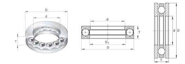 Thrust Ball Bearings 3D